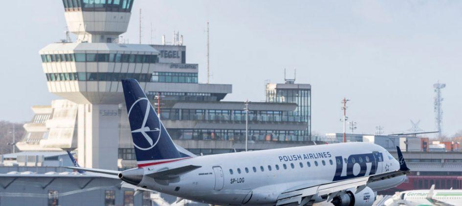 Polish Airlines bei der Landung