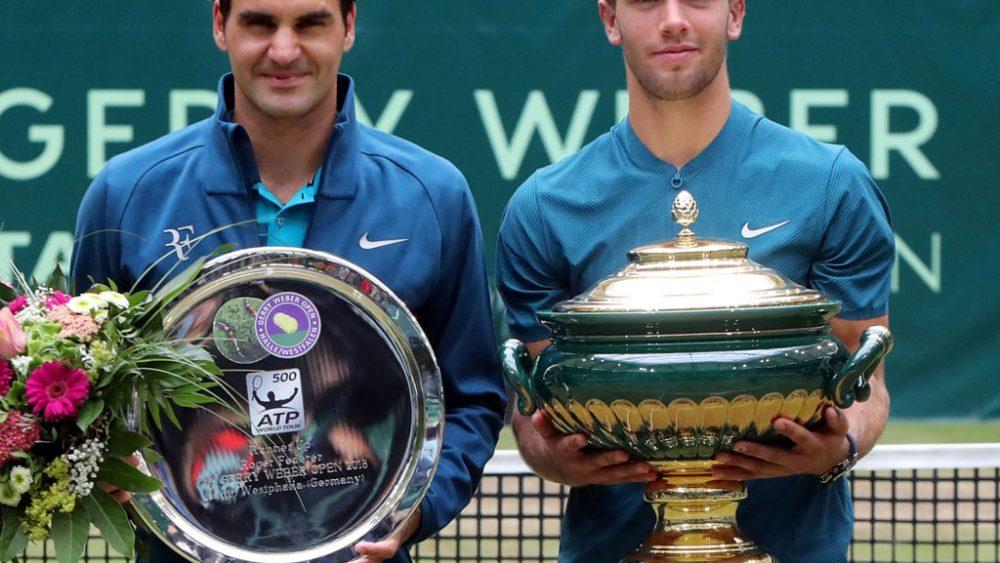 Die zwei Tennisspieler