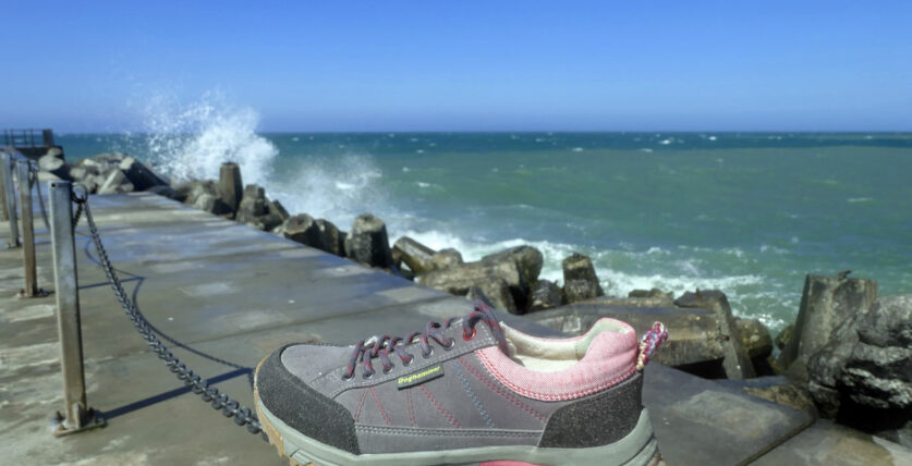 Meeresplastik wird zum Wanderschuh